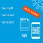 3G-Regel (Geimpft, genesen, getestet)
